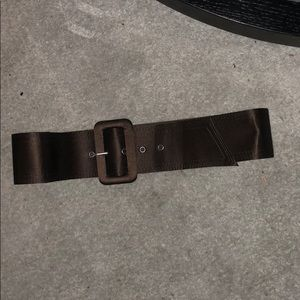 Alice and Olivia brown satin belt